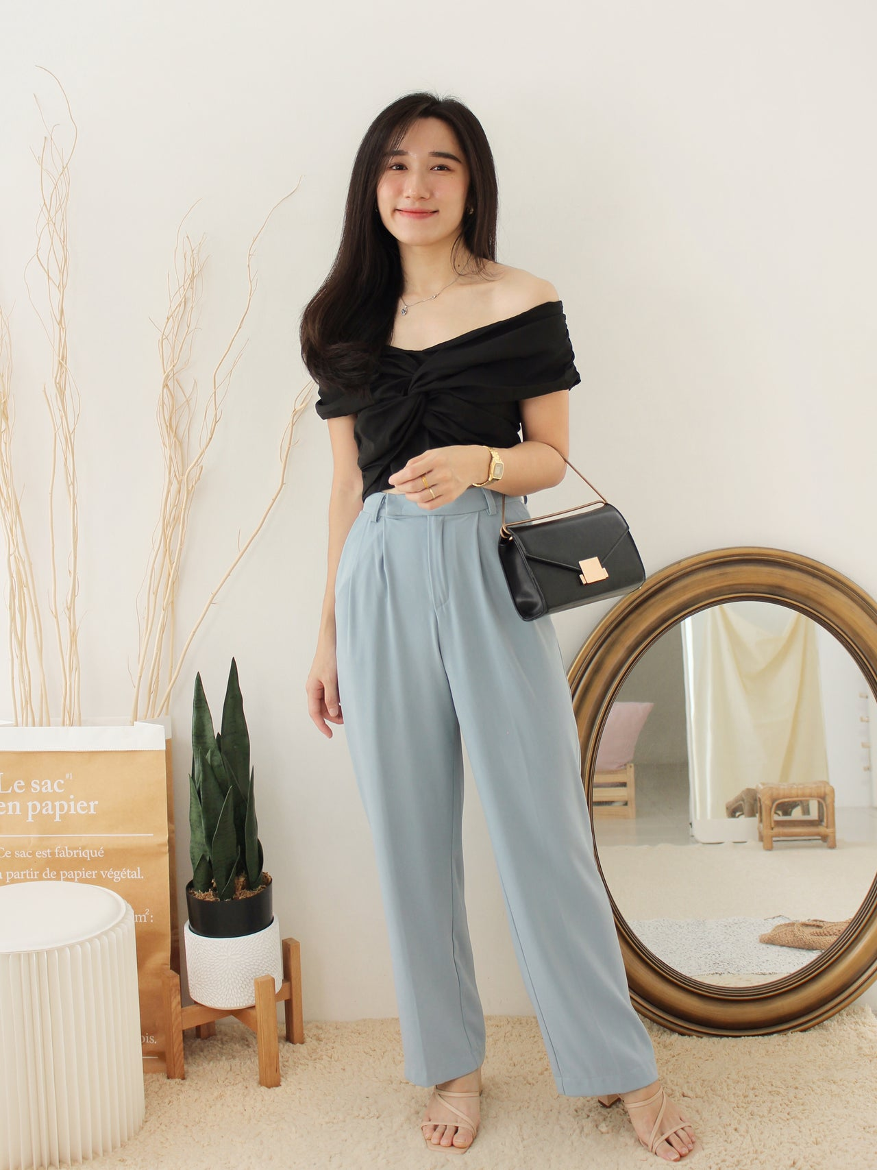 Denice Suit Pants - LovelyMadness Clothing Online Fashion Malaysia
