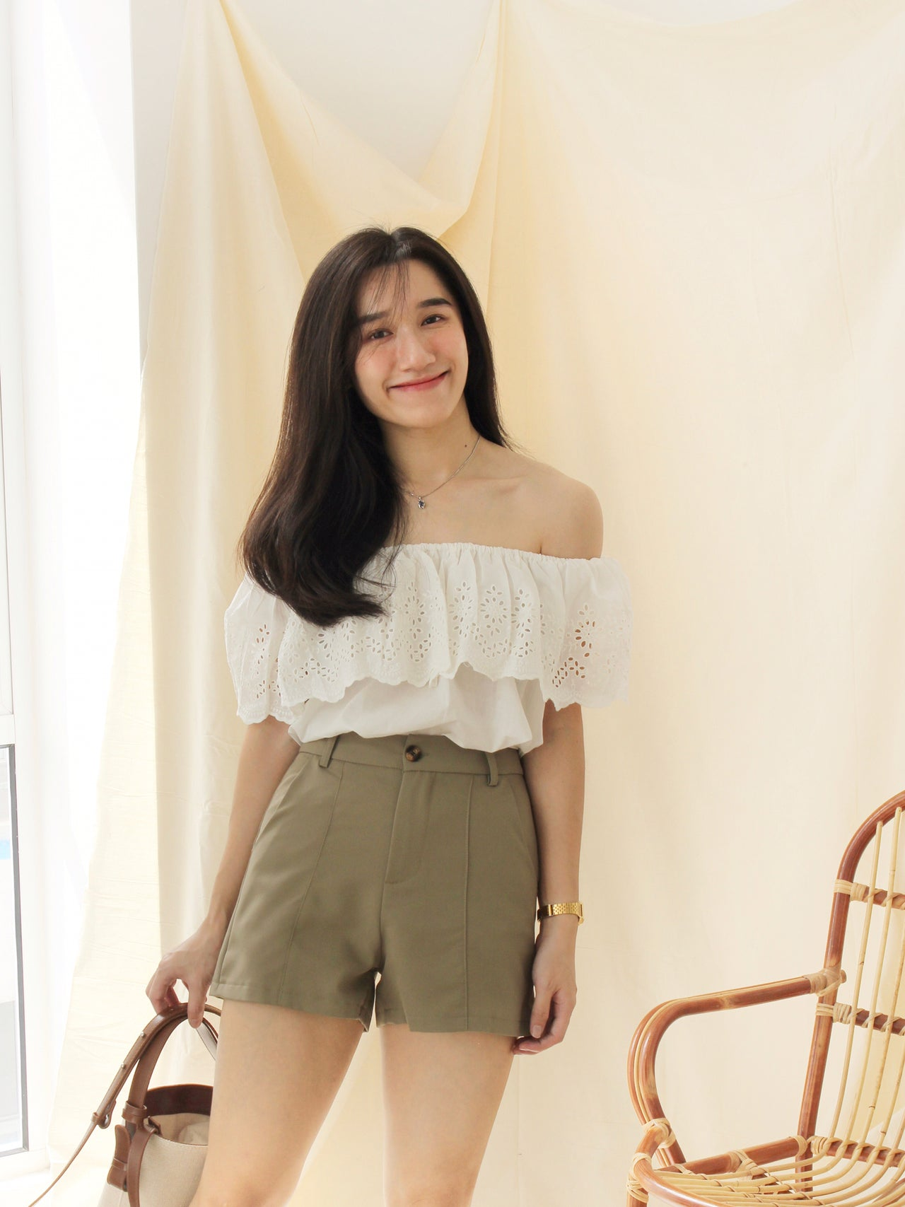 Puffy Button Romper - LovelyMadness Clothing Online Fashion Malaysia