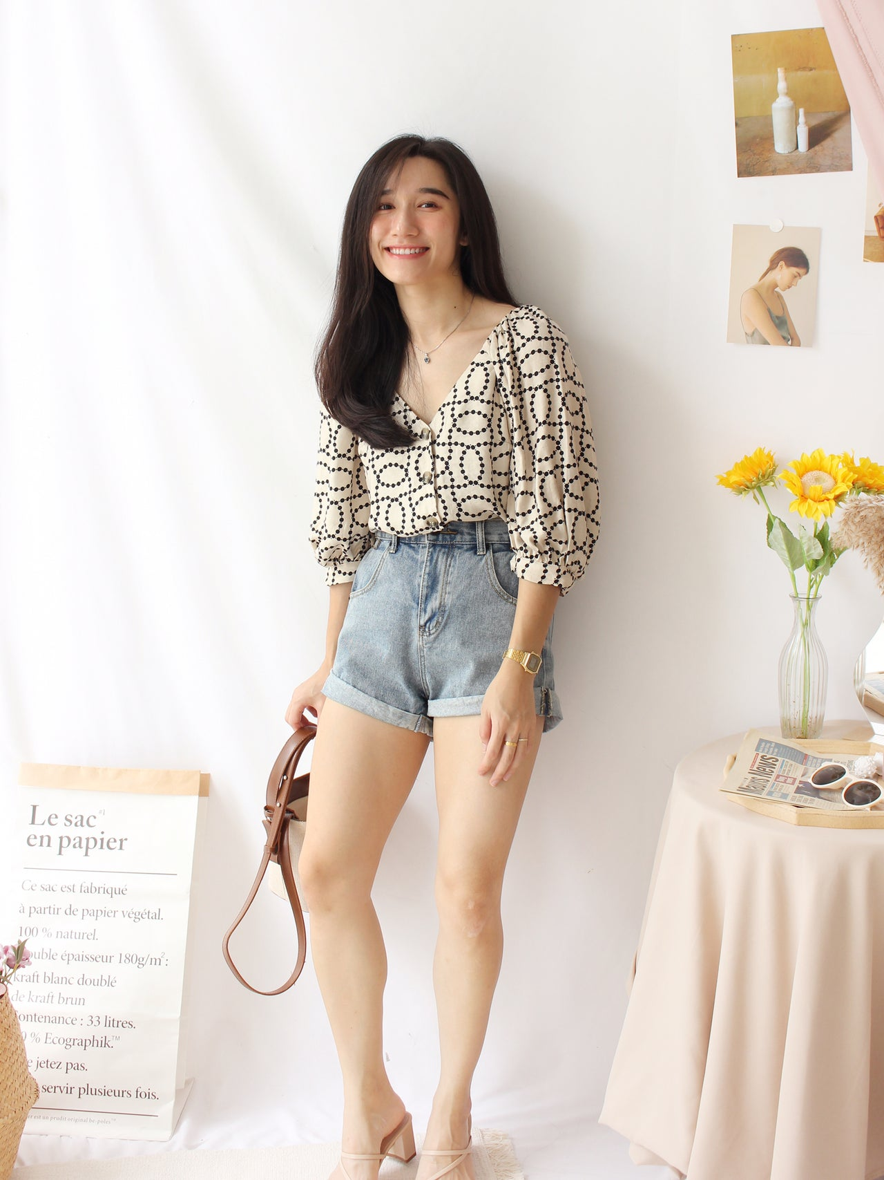 H&M SIDNEY Button Blouse