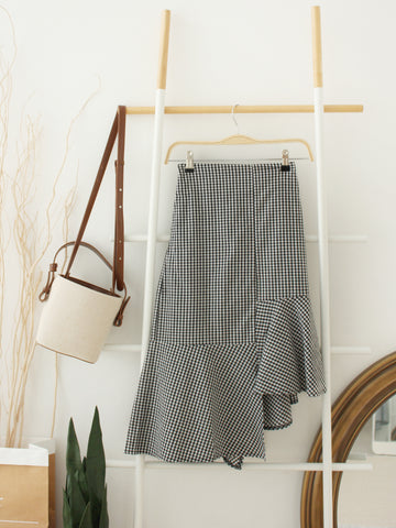 Cross Front Wrap Skirt