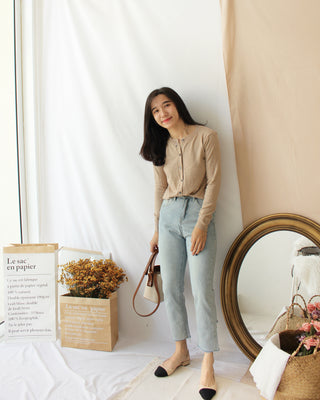 Button Outer Top - LovelyMadness Clothing Online Fashion Malaysia