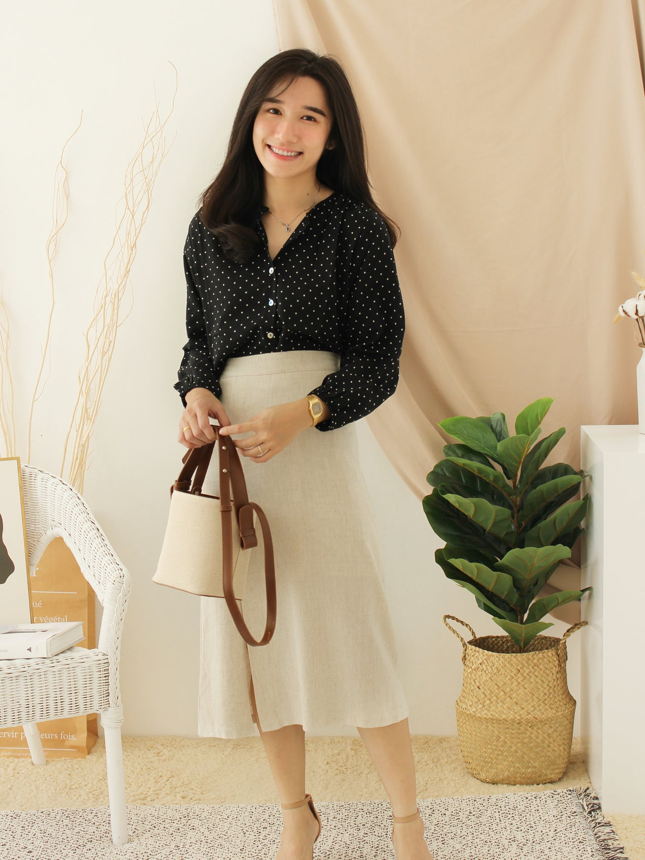 Korean Hazel Ramie Skirt