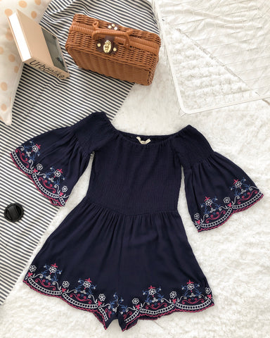 Blue Daisy Off Shoulder
