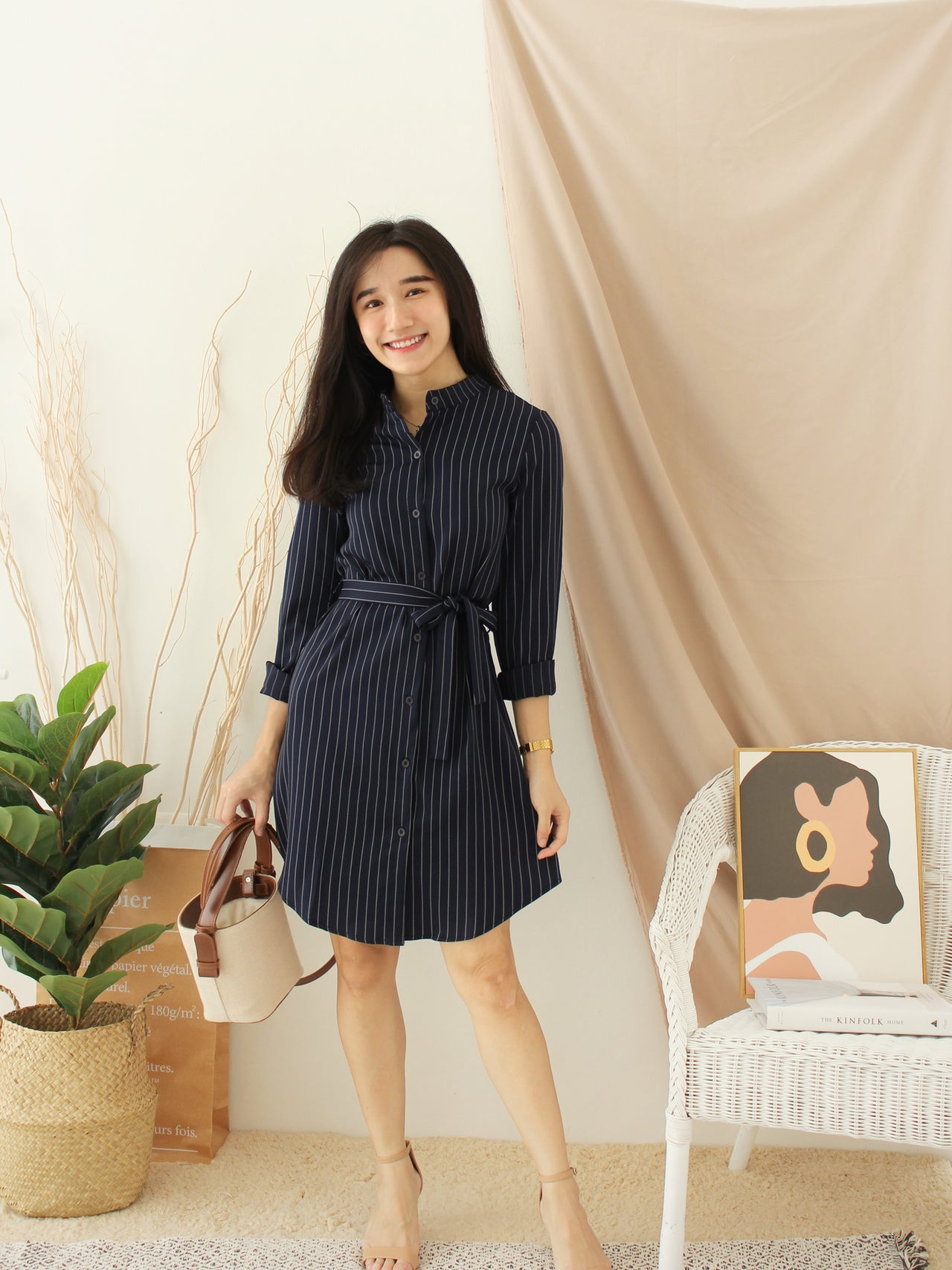 KOREAN Stripe Dress