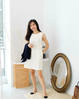 Korea Ramie Alined Dress - LovelyMadness Clothing Online Fashion Malaysia