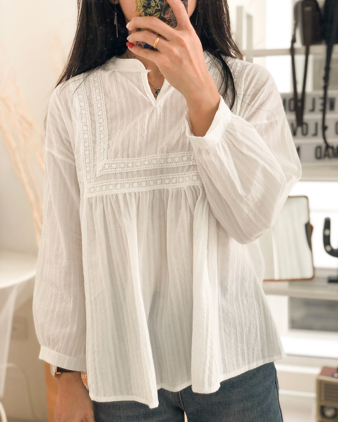 Noelle Crochet Blouse - LovelyMadness Clothing Online Fashion Malaysia