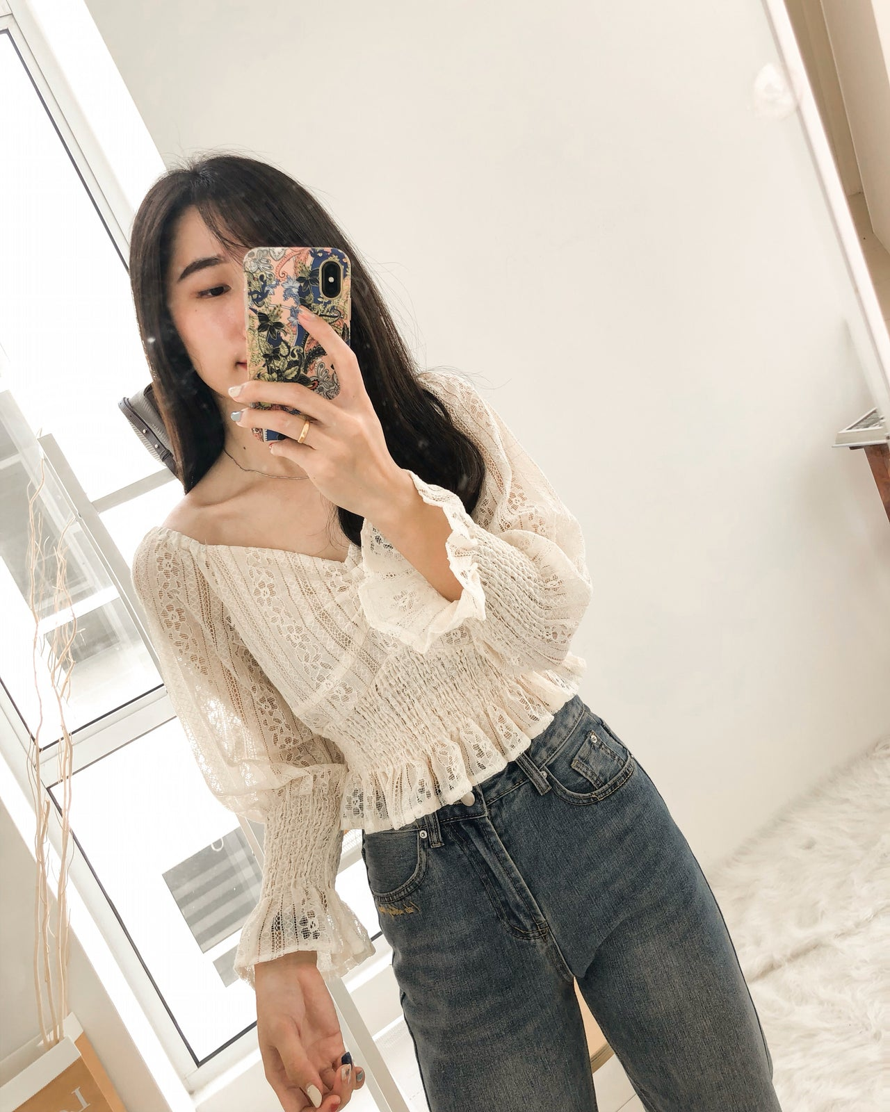 Lace Puffy Top - LovelyMadness Clothing Online Fashion Malaysia