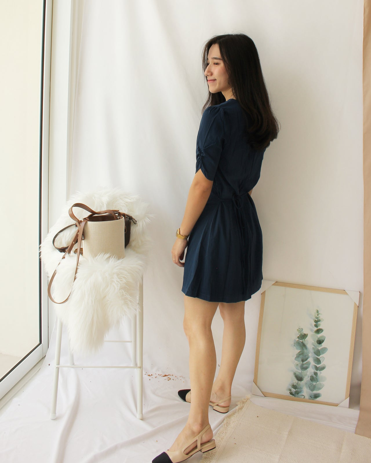 Korean Navy Dress - LovelyMadness Clothing Online Fashion Malaysia