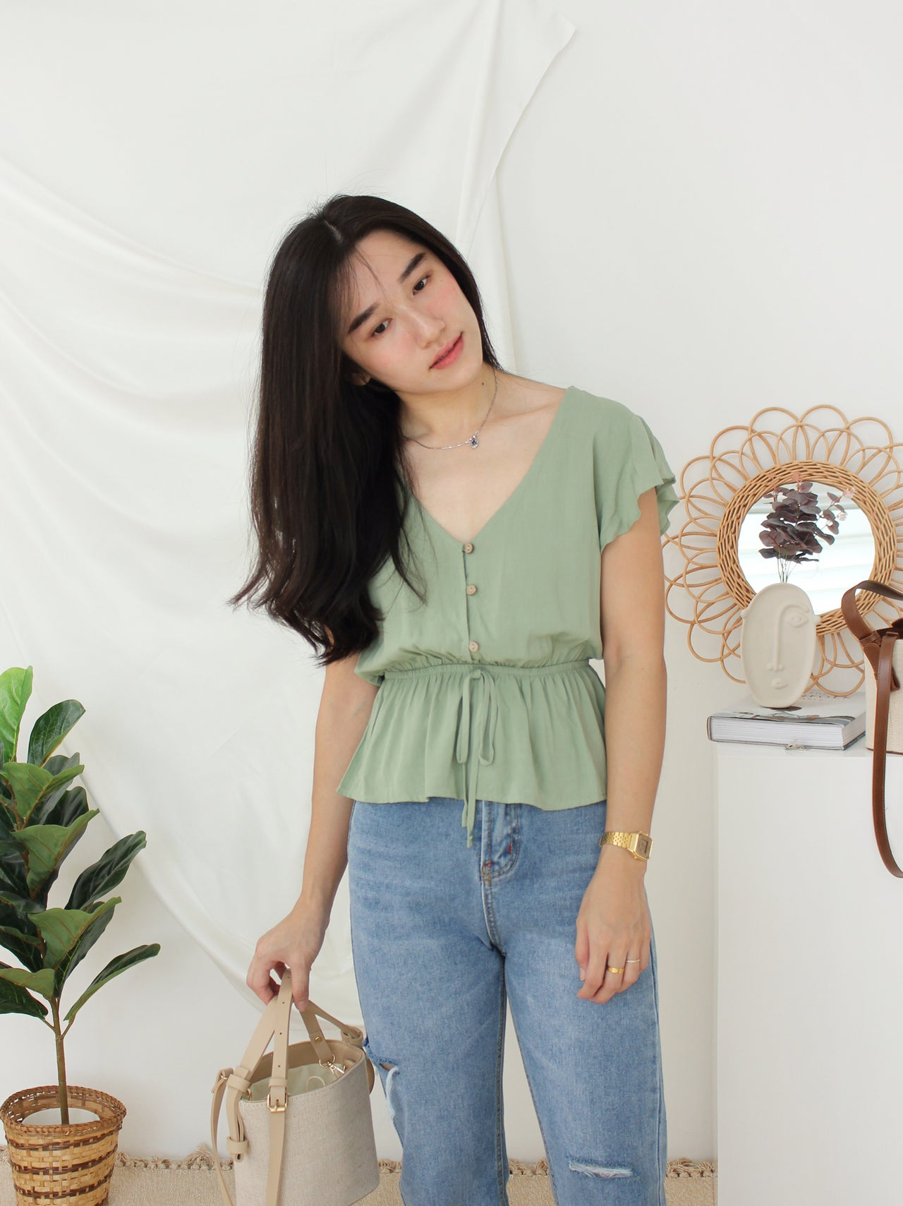 YOVIE Ruffle Top