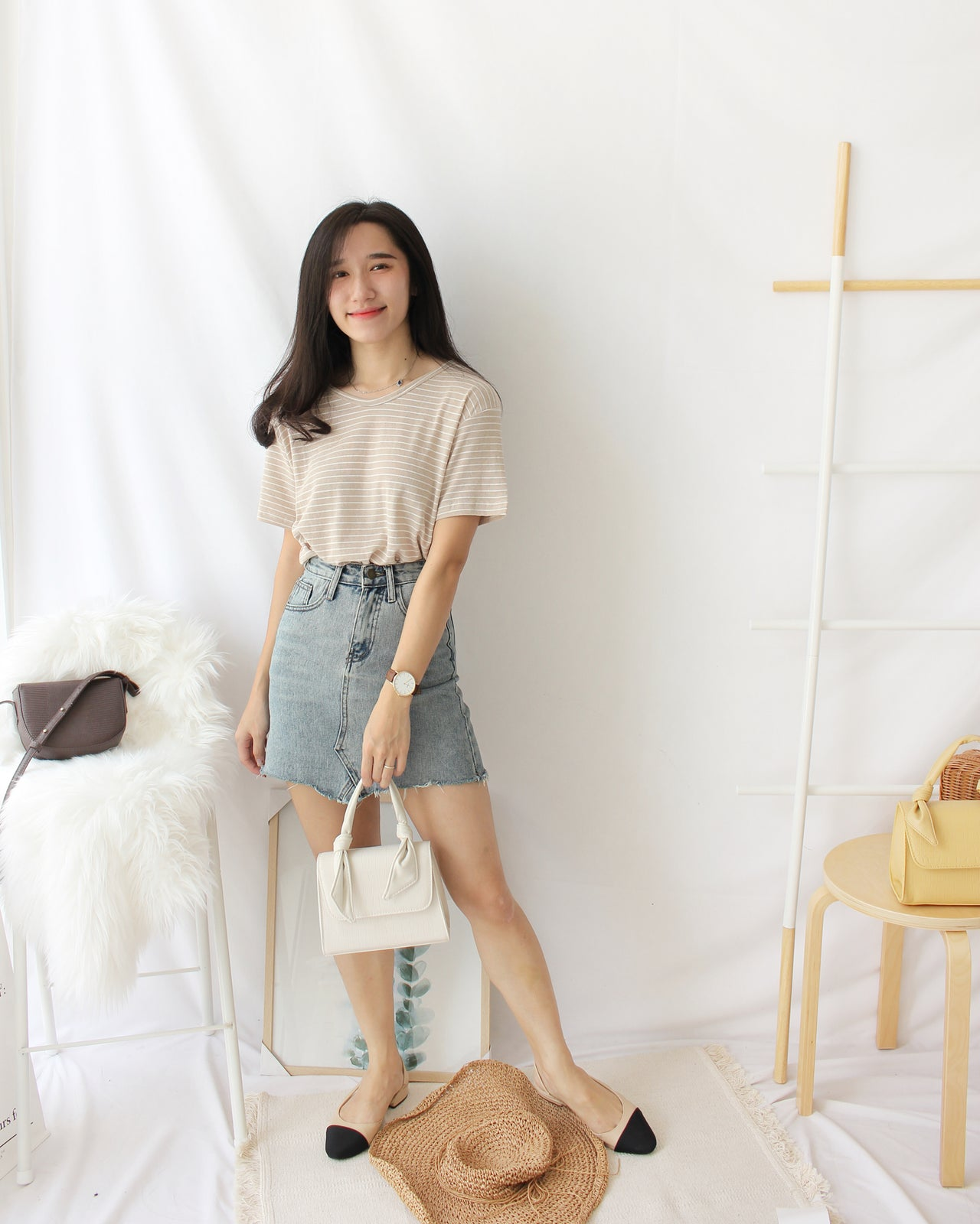 Comfy Stripe Tee - LovelyMadness Clothing Online Fashion Malaysia