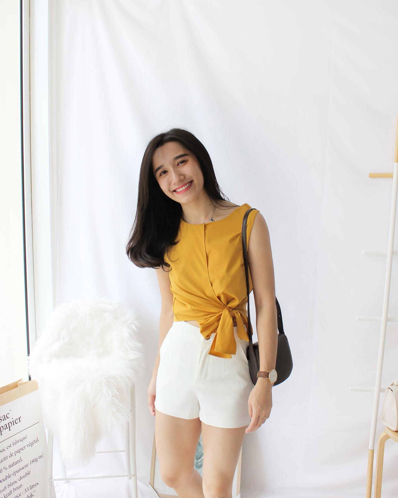 Ribbon Knot Wrap Top - LovelyMadness Clothing Online Fashion Malaysia
