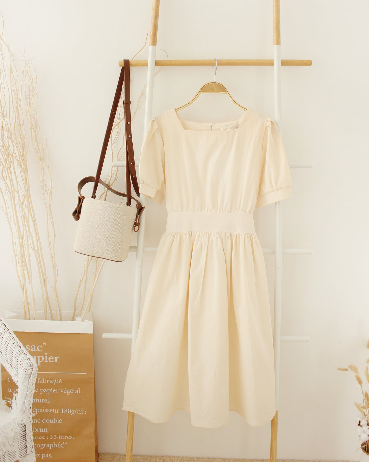 Korean Puffy Long Dress - LovelyMadness Clothing Online Fashion Malaysia