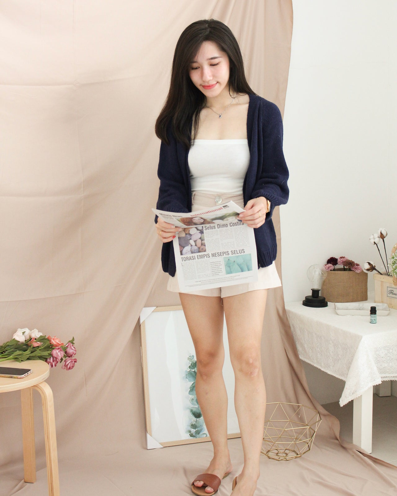 Korea Knitted Outer - LovelyMadness Clothing Online Fashion Malaysia