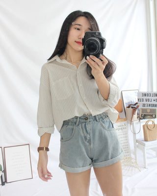 Nat Ramie Pocket Blouse