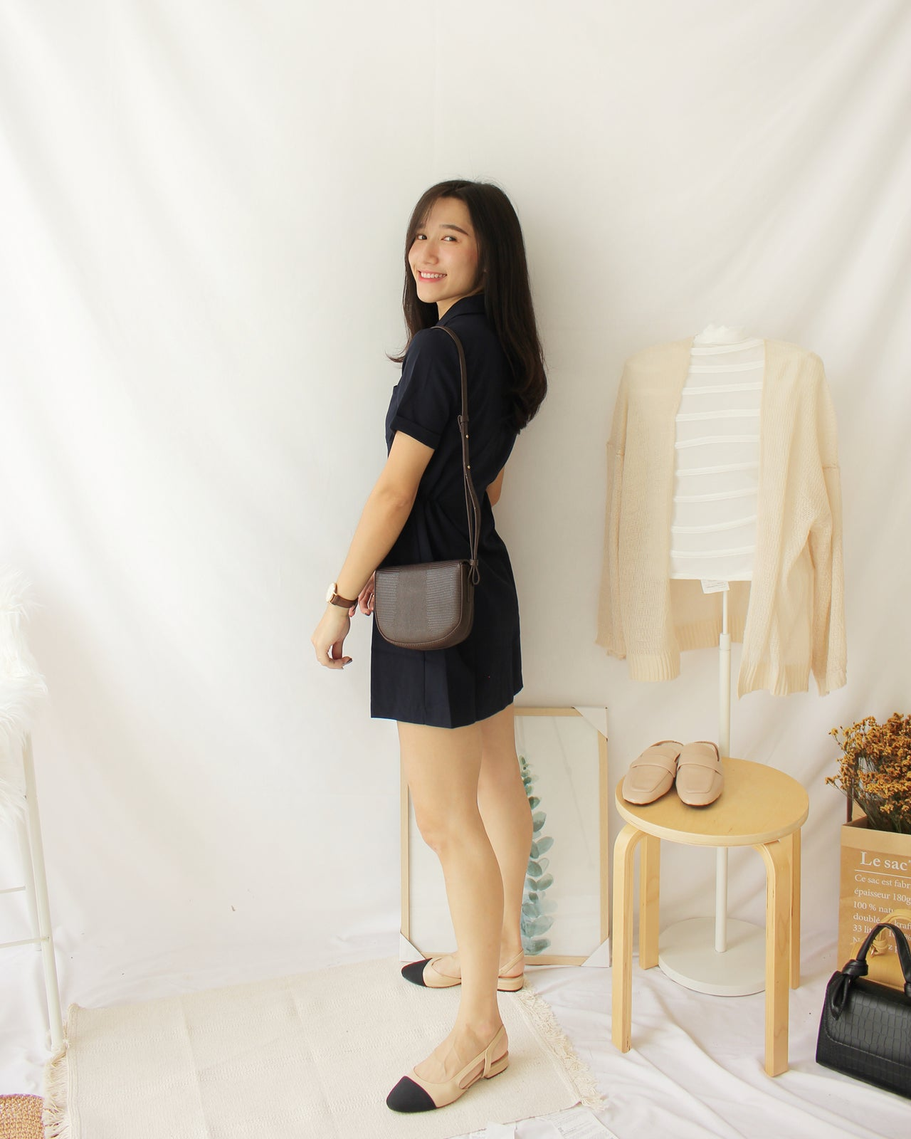 Navy Suit Dress - LovelyMadness Clothing Online Fashion Malaysia