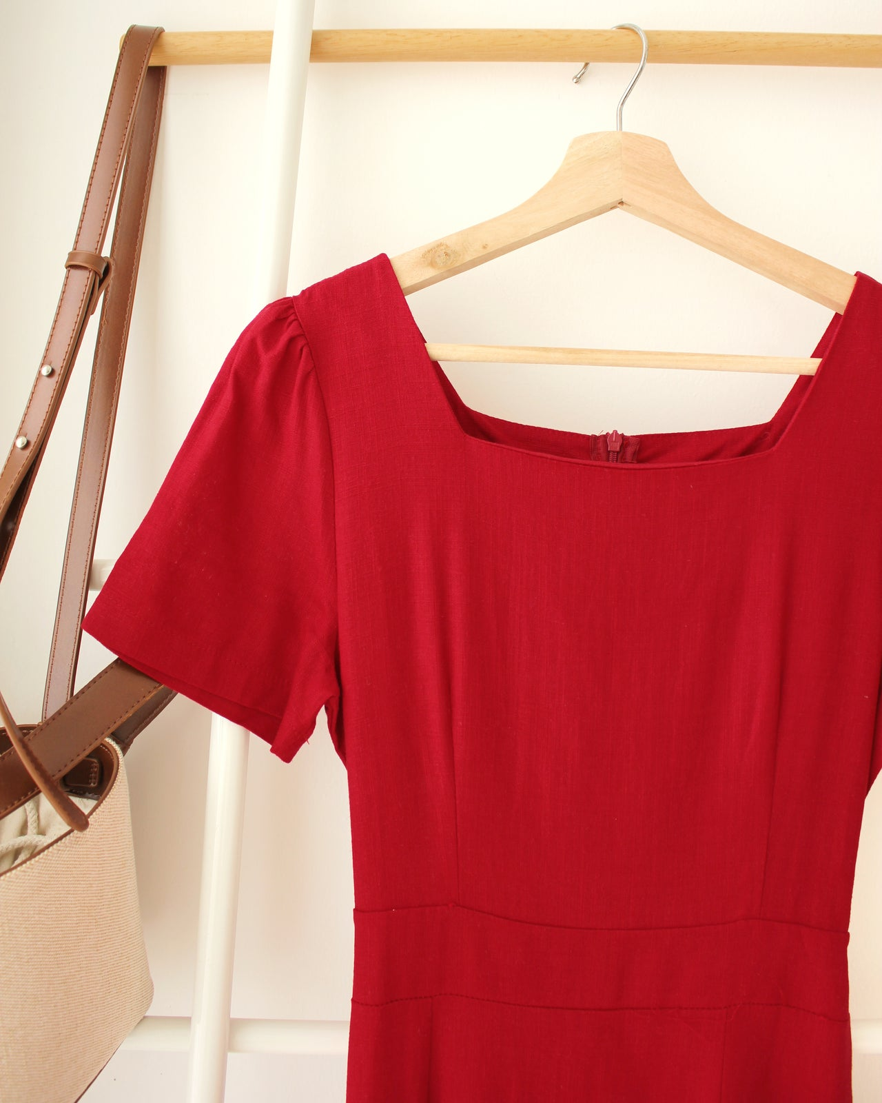 Korean Maroon Dress - LovelyMadness Clothing Online Fashion Malaysia