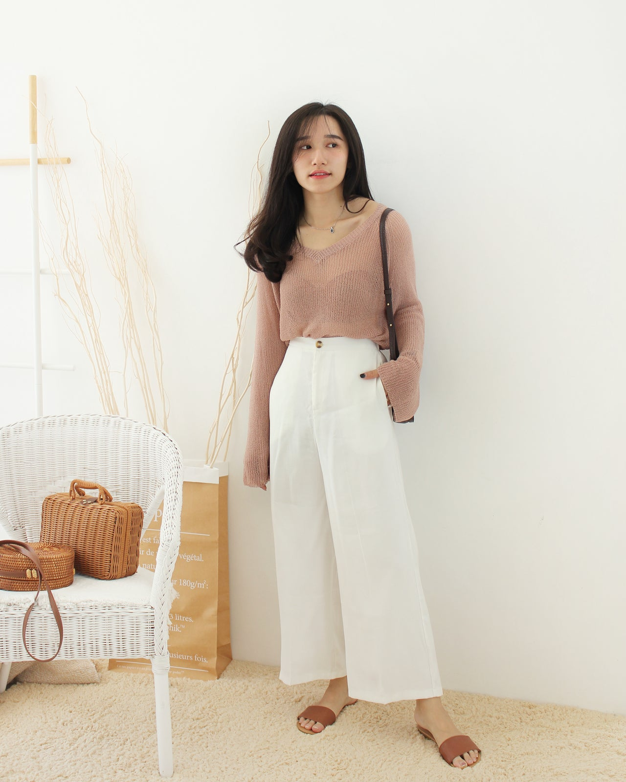 Knitted Sheer Top - LovelyMadness Clothing Online Fashion Malaysia