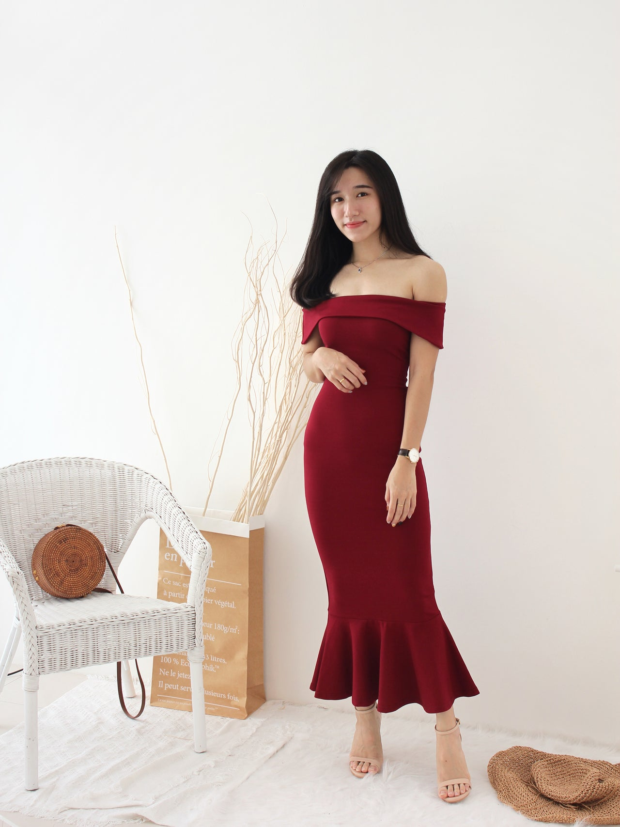 Mermaid Dinner Dress - LovelyMadness Clothing Online Fashion Malaysia
