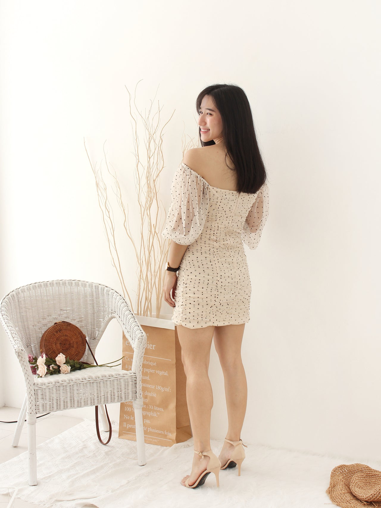 Mesh Polka Dots Dress - LovelyMadness Clothing Online Fashion Malaysia