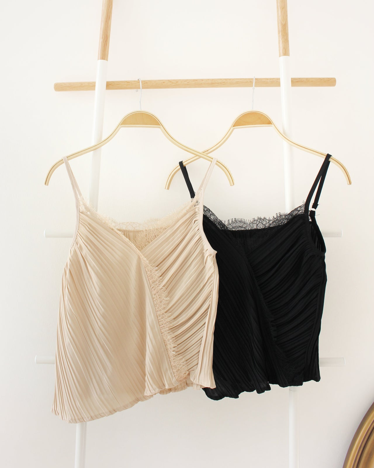 Lace Pleated Tank - Lovely Madness
