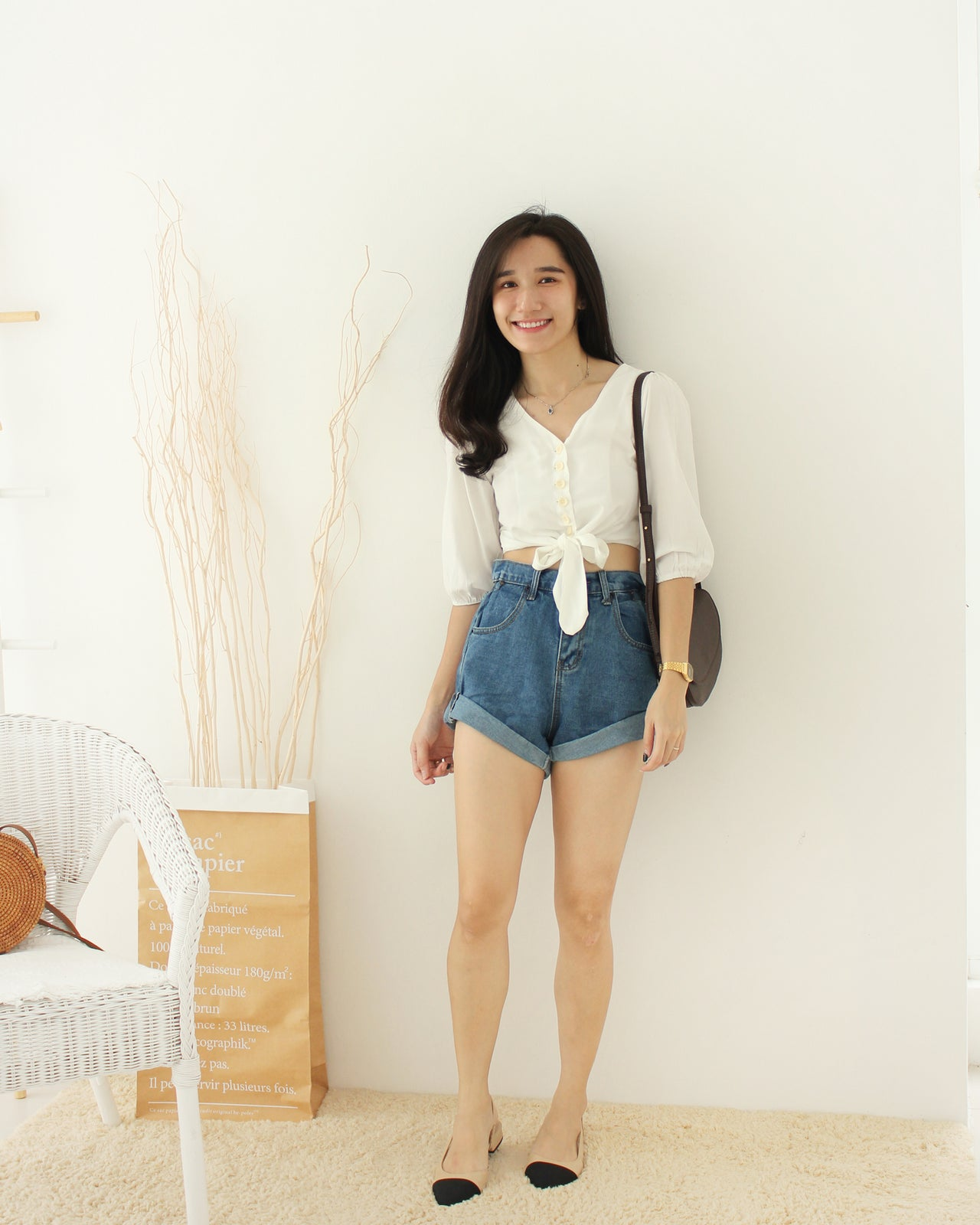 Tasha Button Top - LovelyMadness Clothing Online Fashion Malaysia