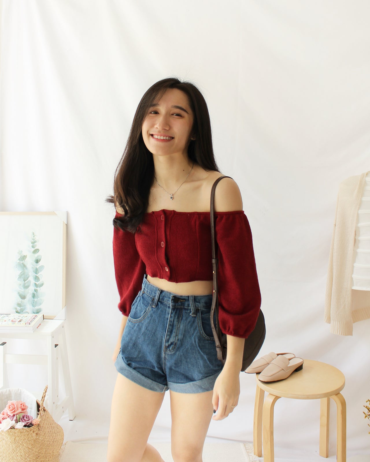 Puffy Button Top - LovelyMadness Clothing Online Fashion Malaysia