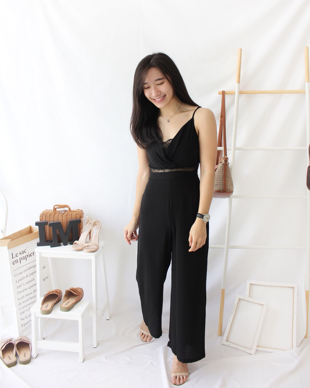Lace Deep V Jumpsuits - LovelyMadness Clothing Online Fashion Malaysia