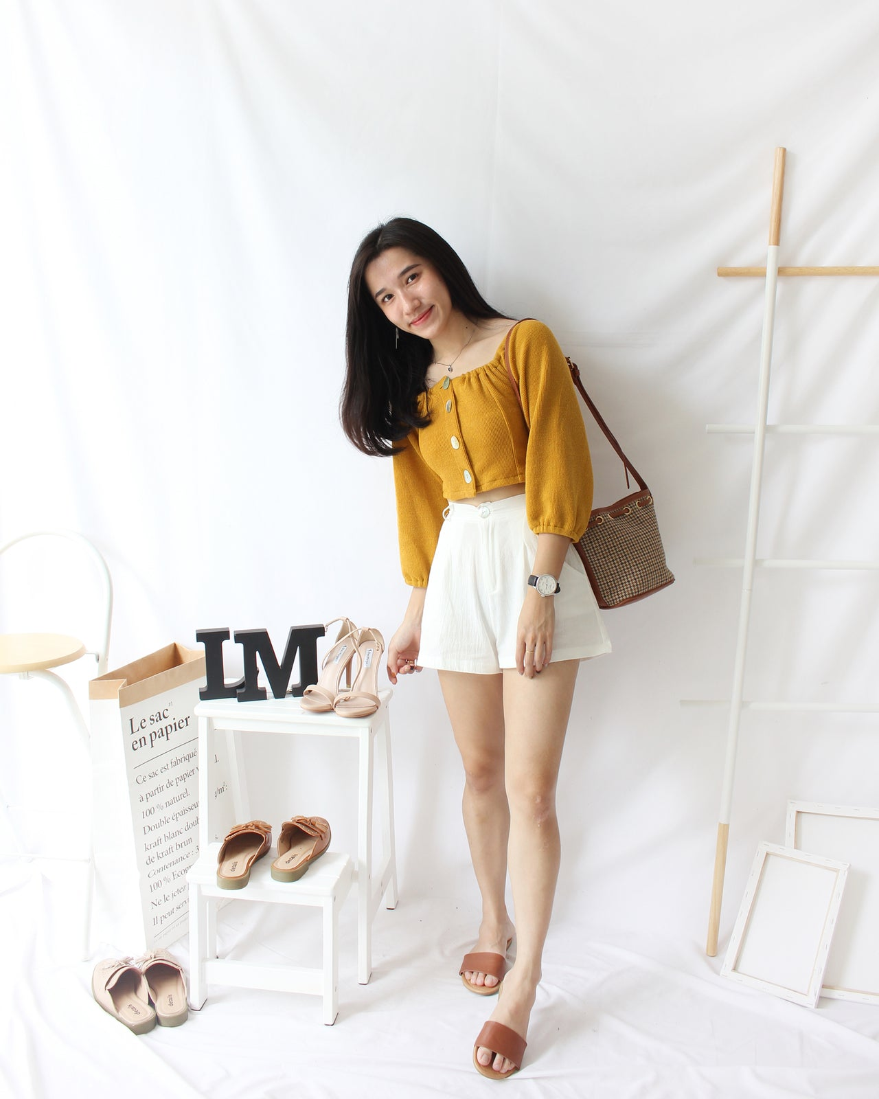 Ramie Cotton Short - LovelyMadness Clothing Online Fashion Malaysia