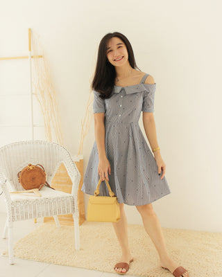 Sasa Stripe Dress - LovelyMadness Clothing Online Fashion Malaysia