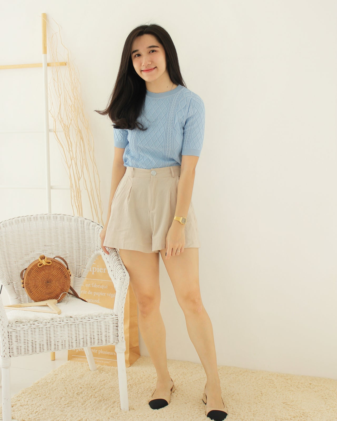 Knit Twist Top - LovelyMadness Clothing Online Fashion Malaysia