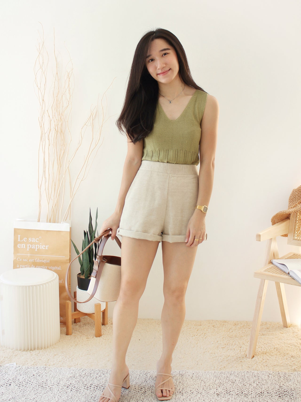 Suzanne Strap Tank - LovelyMadness Clothing Online Fashion Malaysia