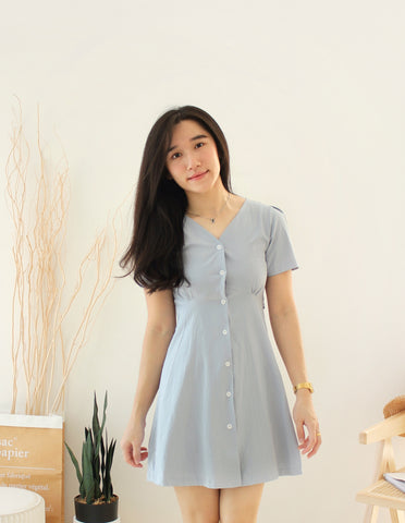 Korean Daisy Wrap Dress