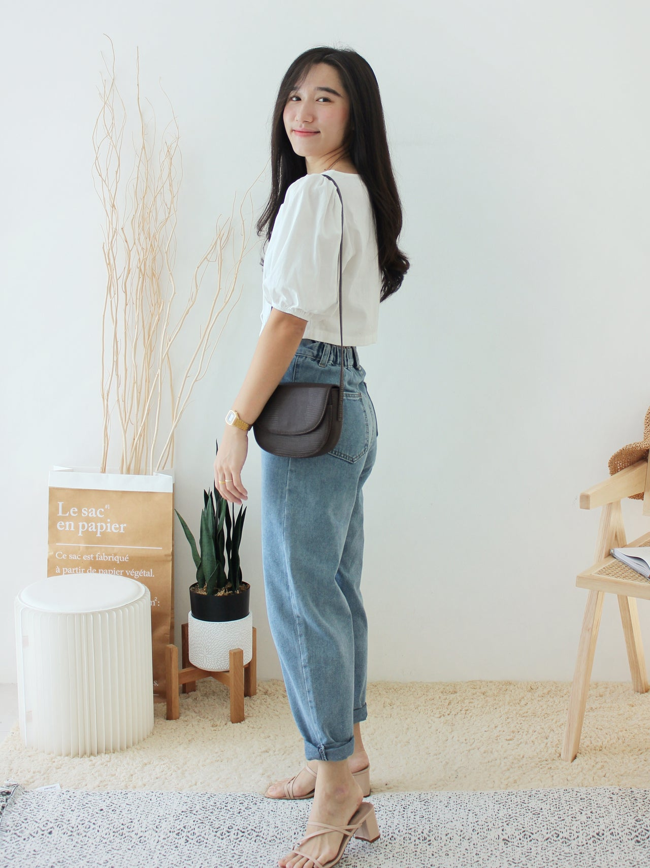 Korean Ramie Square Neck - LovelyMadness Clothing Online Fashion Malaysia