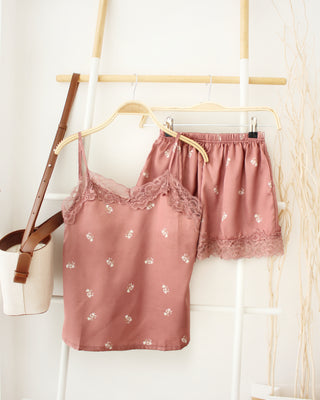 Lace Floral Pyjamas - LovelyMadness Clothing Online Fashion Malaysia