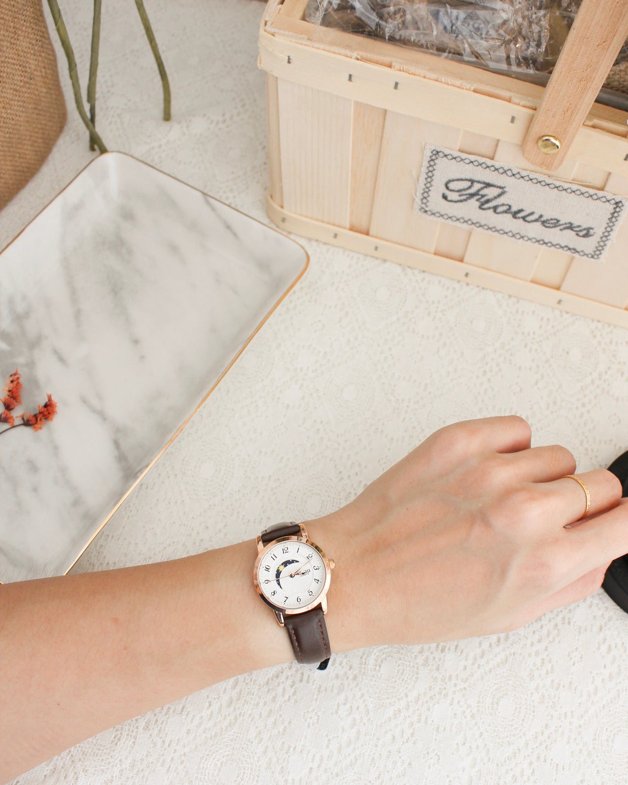 EYKI Moon Leather Watch 29MM - LovelyMadness Clothing Online Fashion Malaysia