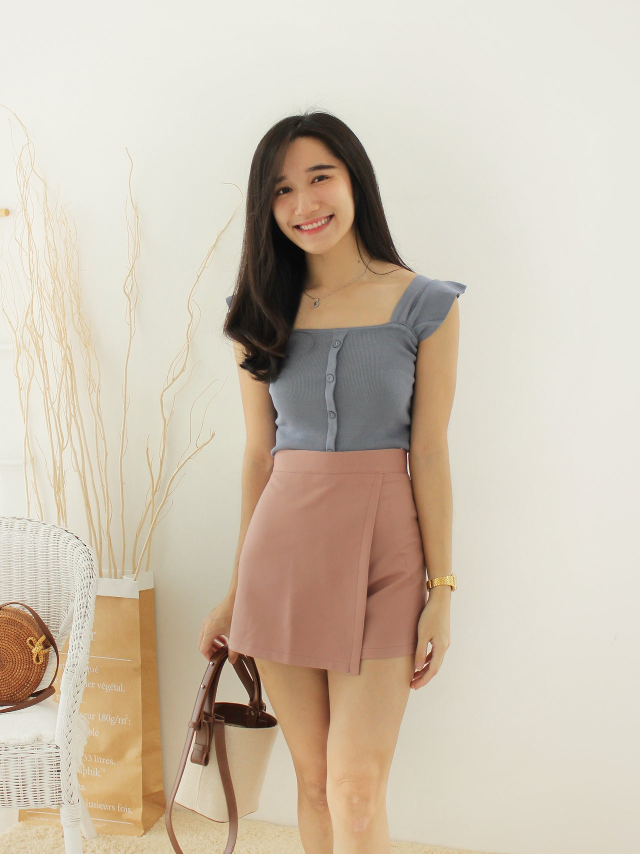 Manda Button Top II - LovelyMadness Clothing Online Fashion Malaysia
