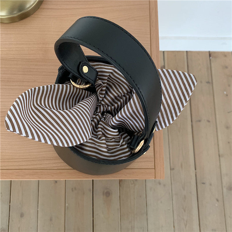 Ribbon Stripy Bucket Bag