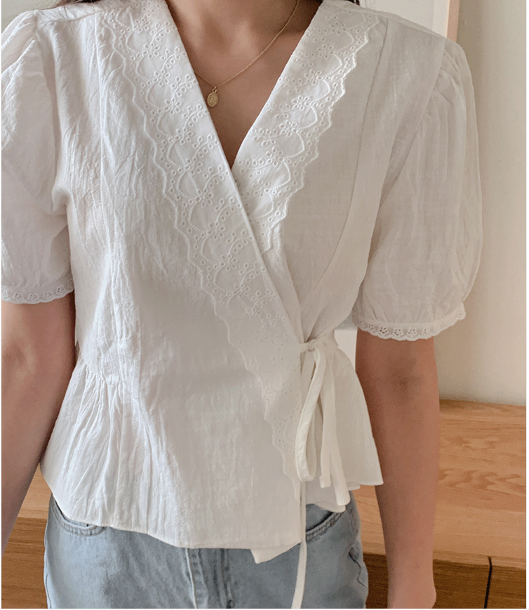 KOREAN LACE LAP Blouse