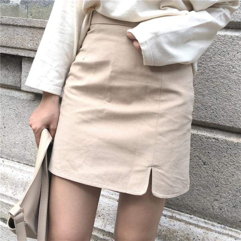 Side Split Skirt
