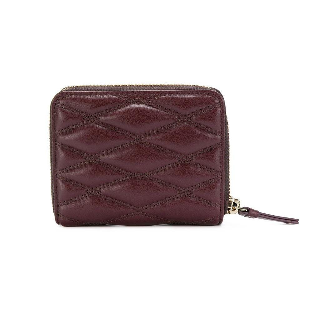 DKNY QUILTED PINSTRIPE CARRYALL SMALL WALLET