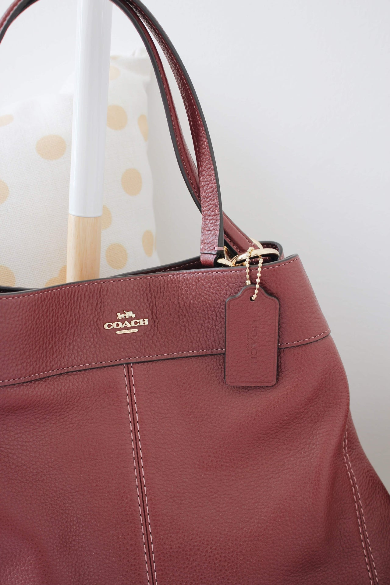 COACH PEBBLED LEATHER LEXY SHOULDER BAG - LovelyMadness Clothing Malaysia