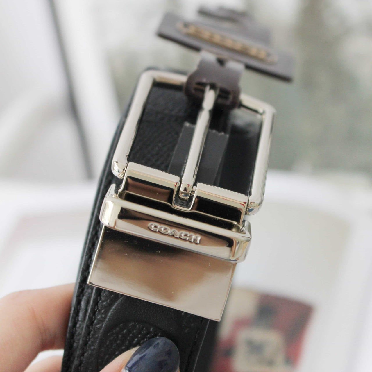 COACH MODERN HARNESS CUT-TO-SIZE REVERSIBLE SIGNATURE LEATHER BELT - LovelyMadness Clothing Online Fashion Malaysia