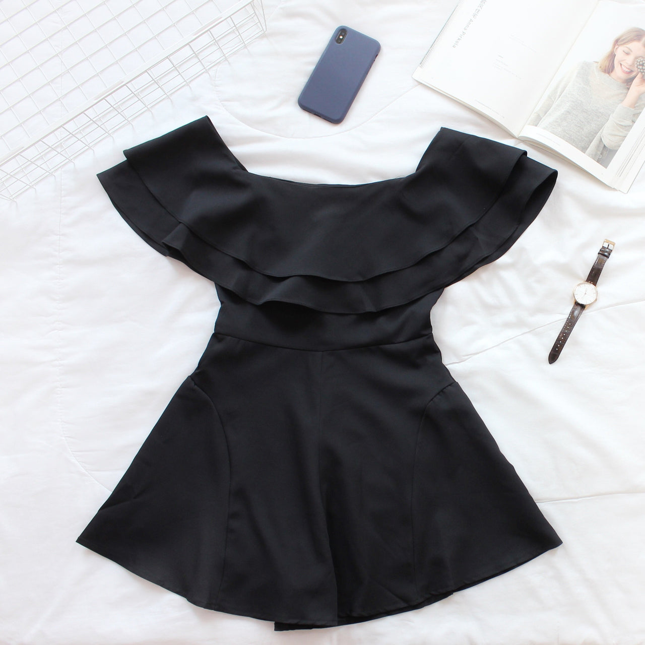 Hermione Flare Romper - LovelyMadness Clothing Online Fashion Malaysia