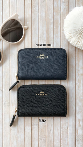 COACH BIFOLD CARD CASE IN CROSSGRAIN LEATHER