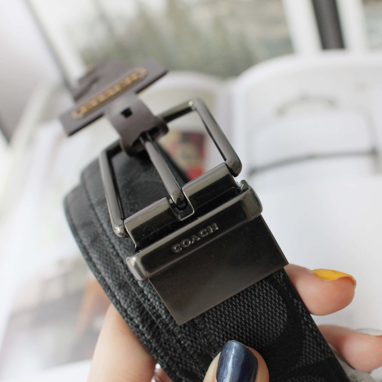 COACH MODERN HARNESS CUT-TO-SIZE REVERSIBLE SIGNATURE COATED CANVAS BELT - LovelyMadness Clothing Online Fashion Malaysia