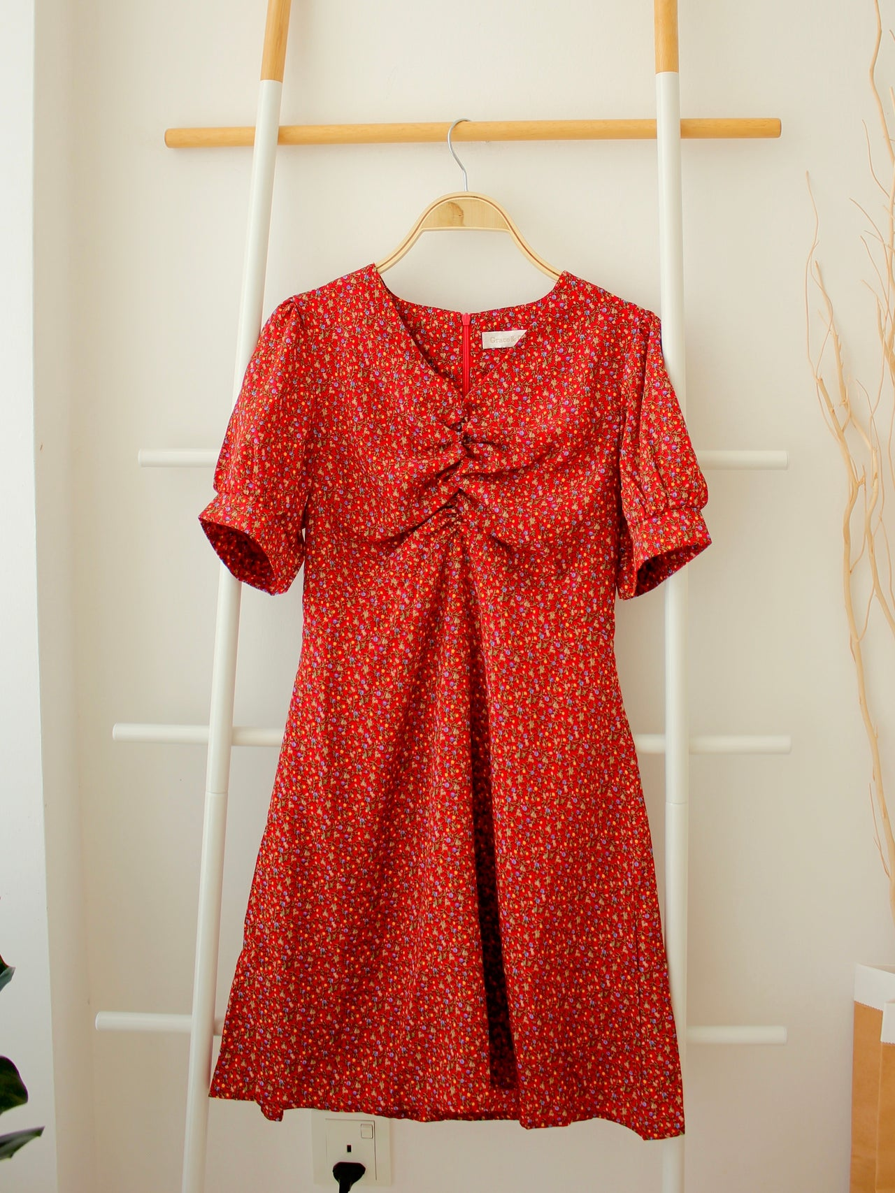 MAY Red Floral Dress