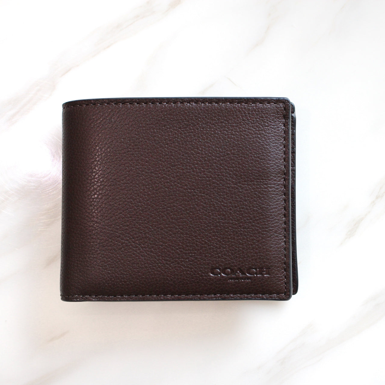 COACH COMPACT ID WALLET IN SPORT CALF LEATHER - Lovely Madness