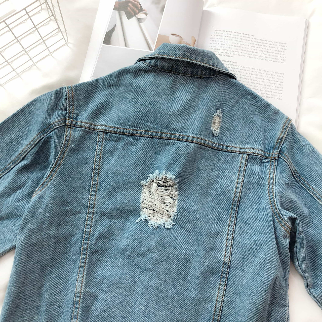Denim Swag Jacket - LovelyMadness Clothing Online Fashion Malaysia