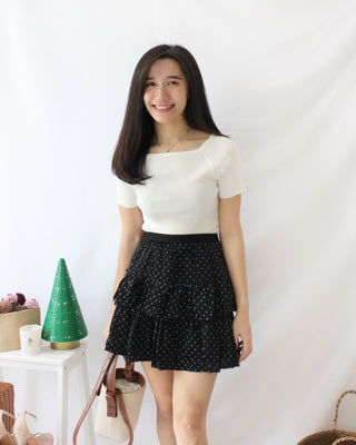 Polka Dots Layer Skirt - LovelyMadness Clothing Online Fashion Malaysia