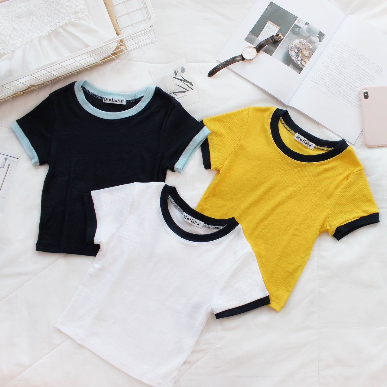 Baseball Crop Top - LovelyMadness Clothing Online Fashion Malaysia